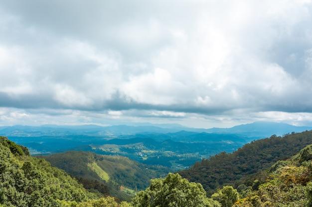 Paysage à couper le souffle de la nature de l'île du sri lanka.