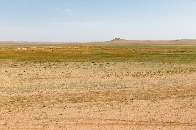Paysage désertique du désert de gobi mongolie intérieure chine