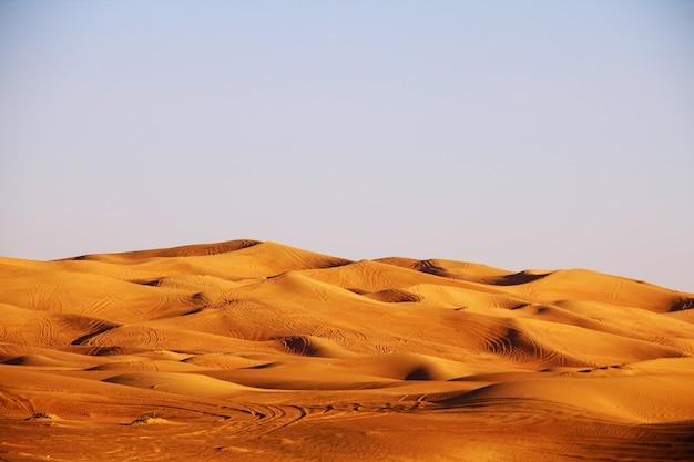 Paysage désertique de dubaï
