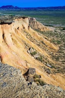Paysage désertique de navarre