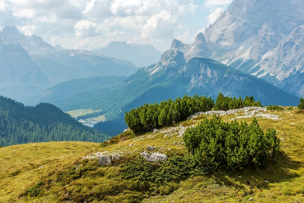 Paysage des dolomites italiennes