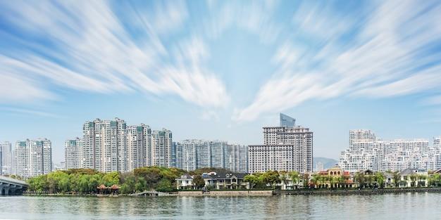 Paysage du centre-ville avec de nombreux bâtiments
