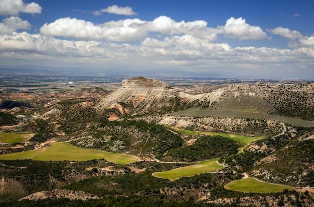 Paysage du désert de bardenas, tudela, navarra, espagne