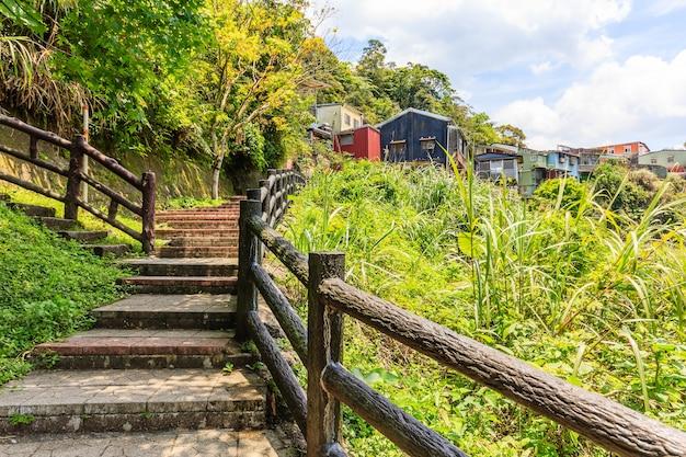 Paysage du district de jingtong, petit village au nord de taipei, taiwan