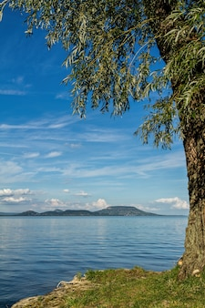 Paysage du lac balaton en hongrie