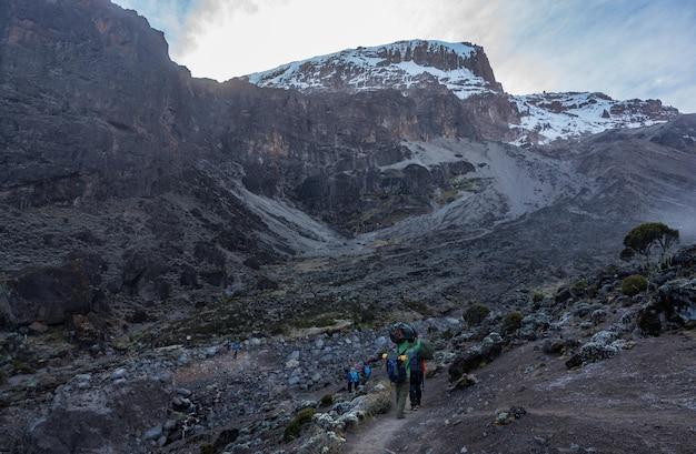 Paysage du mont kilimandjaro - le toit de l'afrique en tanzanie.