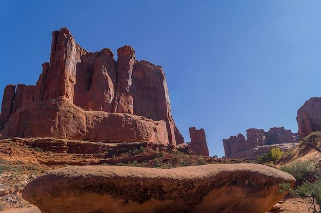 Paysage du parc national des arches dans l'utah, états-unis.