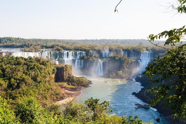 Paysage du parc national des chutes d'iguazú, argentine