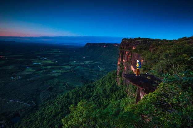 Paysage du parc national de ph-lang-ka, province de buengkan, thaïlande.