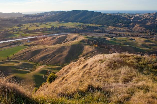 Paysage du pays de la région. te mata peak, nouvelle-zélande