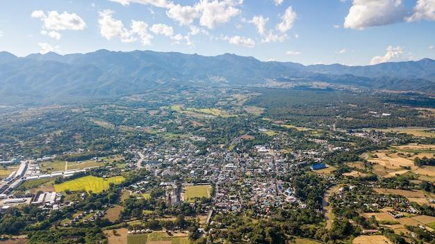 Paysage du quartier de pai mae hong son thaïlande