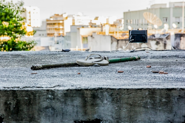 Paysage de la favela de cantagalo