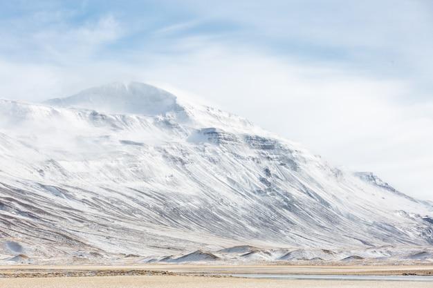 Paysage d'hiver d'islande