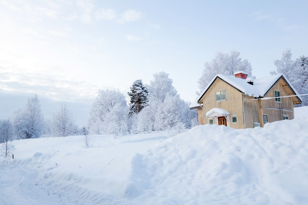 Paysage d'hiver en laponie suède