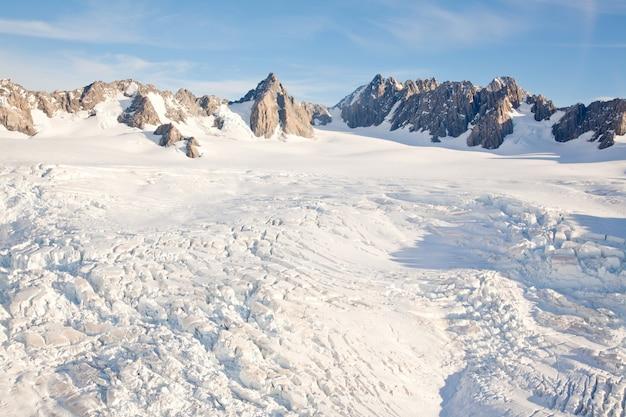 Paysage d'hiver mountain cook nouvelle-zélande