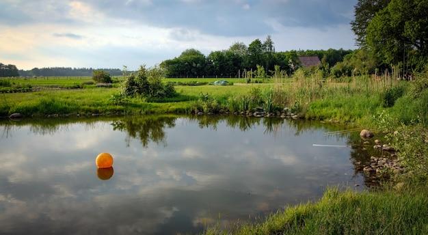 Paysage hollandais typique en été