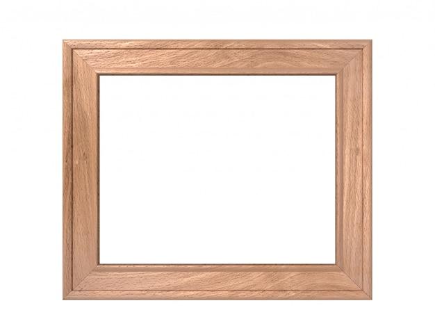 Paysage horizontal vieux cadre en bois