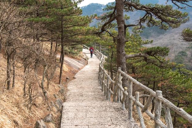 Paysage de huangshan, chaîne de montagnes du sud de la province d'anhui, dans l'est de la chine.