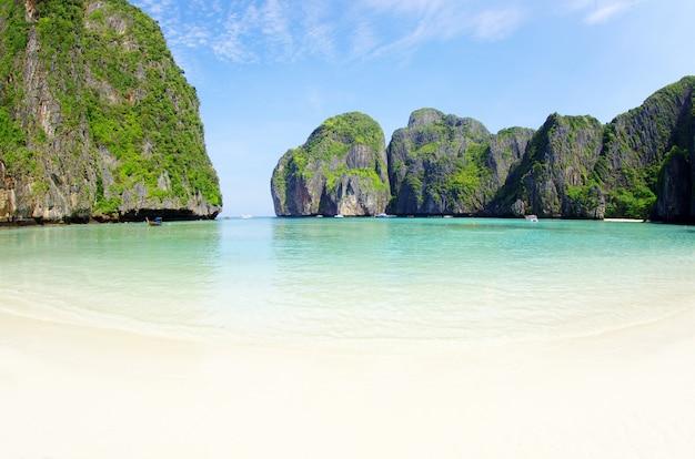 Paysage de l'île sur la plage tropicale