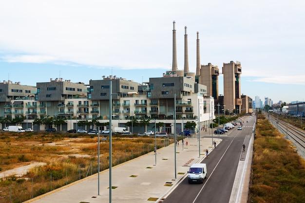 Paysage de l'industrie. barcelone