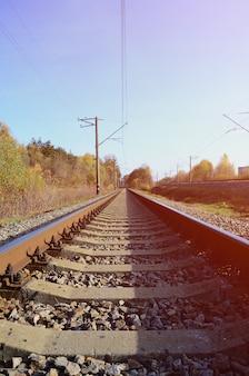 Paysage industriel d'automne