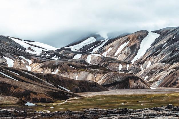 Paysage de landmannalaugar islande highland