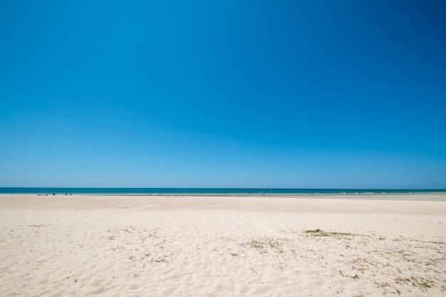 Paysage marin de belle plage tropicale avec ciel calme.