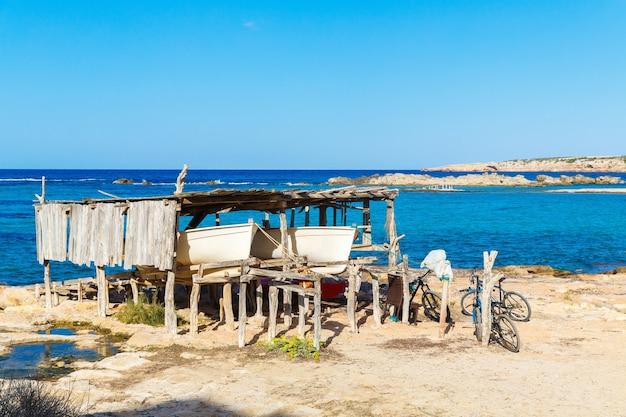 Paysage marin de formentera, espagne, mer méditerranée.
