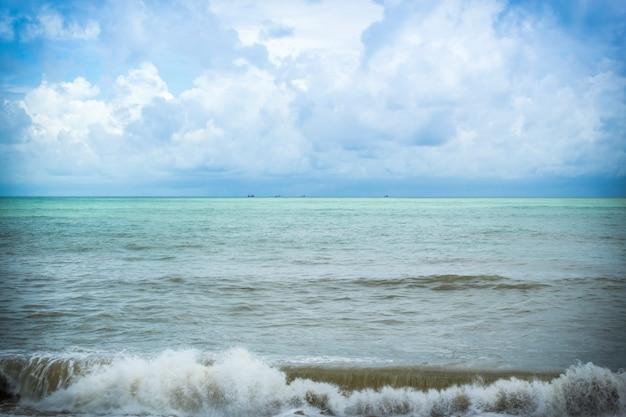 Paysage marin et vague
