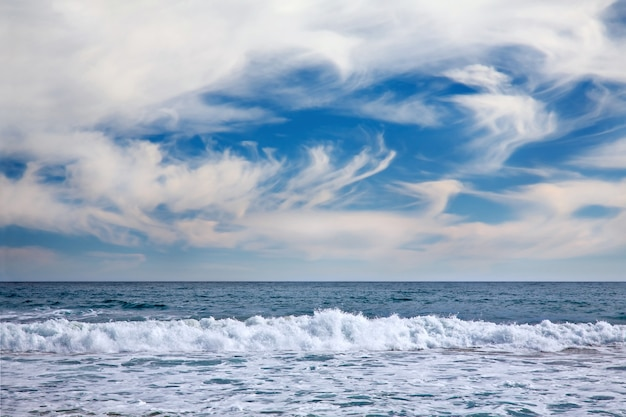 Paysage marin à vina del mar, chili