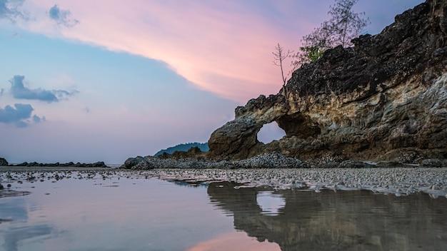 Paysage de la mer de pierre