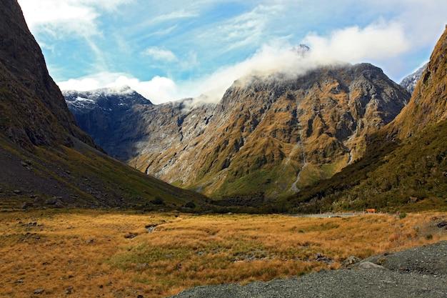 Paysage de montagne au milford sound