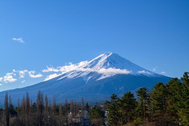 Paysage de la montagne fuji, yamanashi, japon