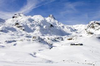 Paysage de montagne, à pied