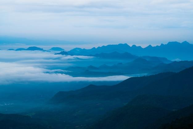 Paysage de montagne de silhouette