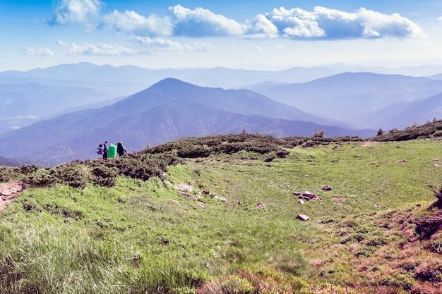 Paysage des montagnes des carpates