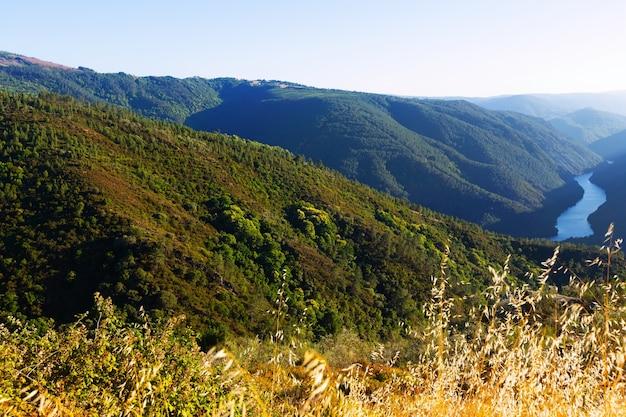 Paysage de montagnes avec rivière