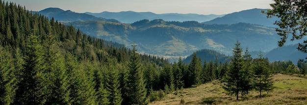Paysage naturel de belles montagnes