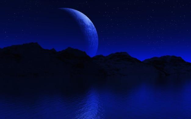 Paysage de nuit