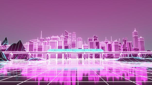 Paysage numérique dans un cyber-monde