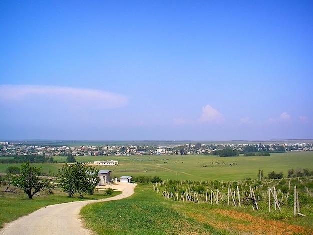 Paysage pittoresque vilino belarus ciel nuages