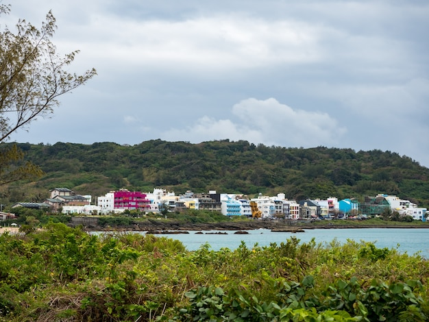 Paysage de la plage de xiaowan à kenting, taiwan