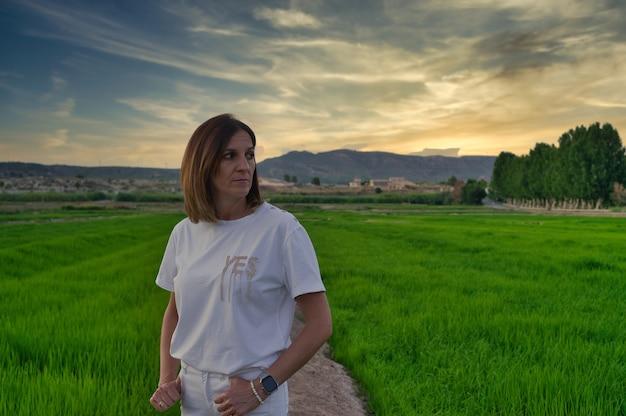 Paysage de rizières à calasparra murcia