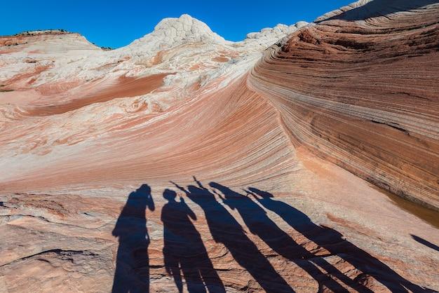 Paysage de rock desert, poche blanche en arizona