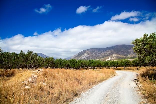 Paysage rural de la grèce