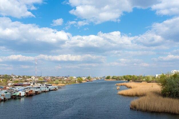 Paysage ukrainien avec un beau ciel