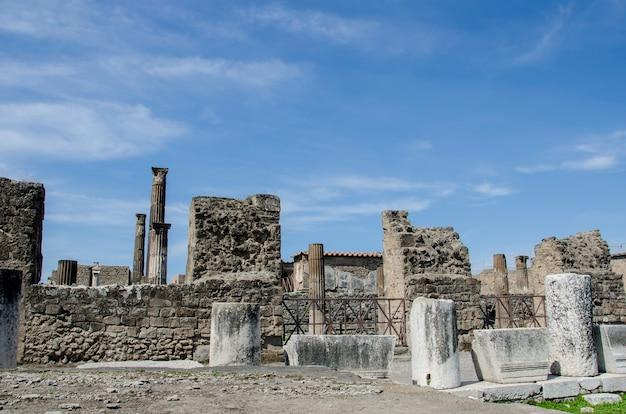 Paysage urbain des anciennes ruines de pompéi en italie