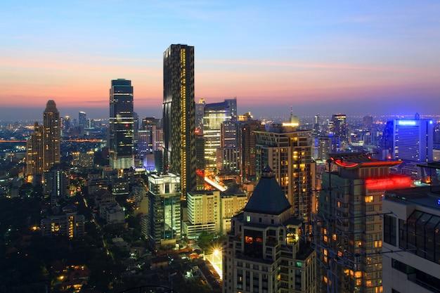 Paysage urbain de bangkok skyline