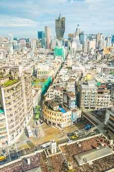 Paysage urbain de belle architecture à macao