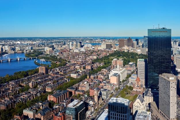 Paysage urbain de boston, usa